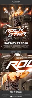 4 X 6 Flyer Template Rock Star Party Flyer Template All Text Is Editable Flyer Size 4