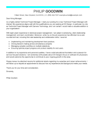 Technical Manager Cover Letter Leading Professional Technical Project Manager Cover Letter Examples