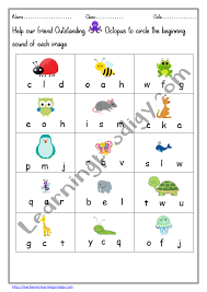 Phonetic quizzes as worksheets to print. Beginning Sound Printable Worksheet For Preschool Phonics Worksheet Circle The Beginning Letter Learningprodigy English English Phonics English N Subjects
