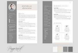 Cv Template For Pages One Page Resume Template Resume