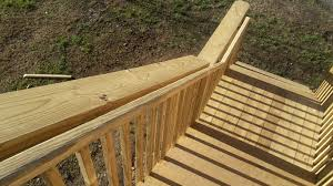 exterior stair code requirements. these stairs have separate guardrails and handrails. exterior stair code requirements