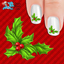 Christmas Holly Nail Art Decals (Now! 50% more FREE) – Patch Puppy