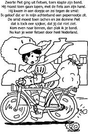 Kleurplaat Sinterklaas Zwarte Piet Zwarte Piet Op Een Scooter