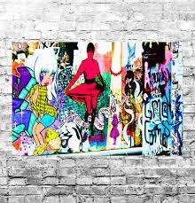 stunning abstract graffiti pop art canvas 31 graffiti wall art canvas picture
