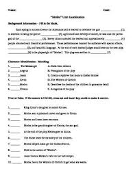 medea test unit examination answer key persuasive writing  homework · this test covers background information