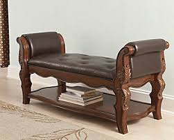 bedroom bench. enhance your bedrood with this brown wooden curved upholstered bench bedroom s