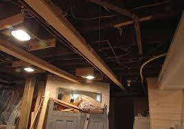 unfinished basement ceiling ideas. Image Of: Lighting Unfinished Basement Ceiling Ideas M