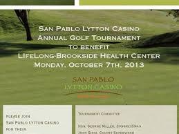 San Pablo Lytton Casino Annual San Pablo Lytton Casino Golf Tournament Benefitting