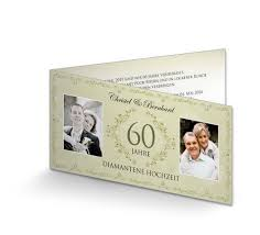 Beiträge zum thema diamantene hochzeit. Einladungskarte Diamantene Hochzeit Vintage Grun