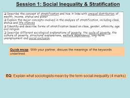 session social inequality stratification ppt session 1 social inequality stratification