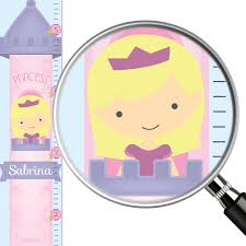 Personalized Princess Growth Chart Personalized Growth Chart Little Princess