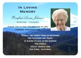 Memorial Service Invitation Template Stunning Funeral Invitation Card Beautiful Funeral Invitation Card Templates