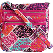 Vera Bradley Pattern Names Custom Vera Bradley Triple Zip Hipster Crossbody Handbag Modern Medley