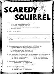 scaredy squirrel book test bonus book report by my daughter s  scaredy squirrel book test bonus book report