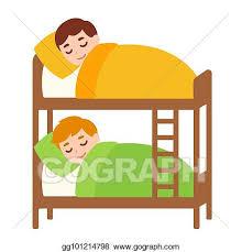 bunk beds clipart. Delighful Bunk Kids Sleeping In Bunk Bed For Bunk Beds Clipart C