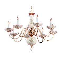 enlarge image description the traditional italian hand painted ceramic rose fl chandelier accents this polished brass