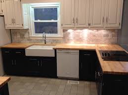 Small Picture Kitchen remodel we used Butcher Block counter tops carrera