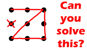 Further there was no mention. Can You Solve This Puzzle Nine Dots Four Lines Challenge Youtube