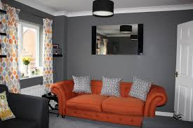 Orange And Grey Living Room A Million Dresses Uk Fashion And Lifestyle Blog Through The New