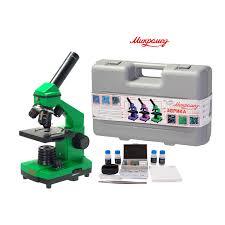 <b>Микромед Эврика</b> 40х-400х в кейсе лайм <b>микроскоп</b> купить