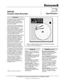 Dr4300 Circular Chart Recorder Specification Honeywell
