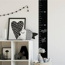 Kids Growth Chart Stick Growth Chart Chalk Ruler Peel And Stick Giant Wall Decal
