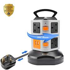 <b>Rdxone</b> Tower Extension Lead Surge Protector Extension Tower ...