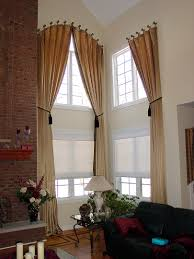 Two Story Living Room Curtains Two Story Windows