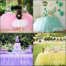 tulle decorations for birthday parties - Wedding Tulle Tutu Table Skirt  Custom Made Colors Birthdays Dessert