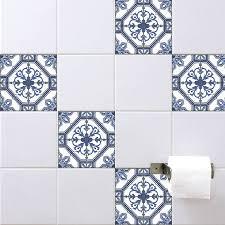spanish tile stickers antique blue