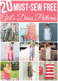 Dress Patterns Free Interesting 48 MustSew FREE Girl's Dress Patterns Sew Much Ado