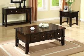 wood coffee table set. Coffee And End Tables With Storage Exciting Dark Rectangle Farmhouse Wood Table Set Four