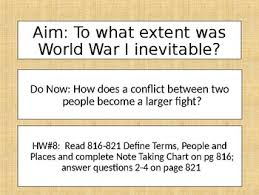 Causes Of World War I Wwi