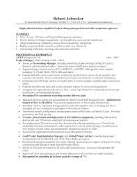 Cover Letter Resume Samples Project Manager Delivery Project