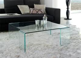tempered glass coffee table cube