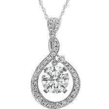 diamond swirl pendant in 14k white gold 18 in