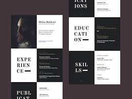 But Mikha Makhoul's resume is still somewhat subdued thanks to the simple  black-and-white color scheme; it doesn't sacrifice professionalism for  visual ...