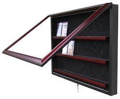 graded card display case suede interior