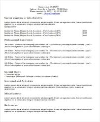 Format For Professional Resume Inspiration 28 Resume Formats PDF DOC Free Premium Templates