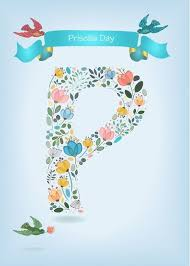 Name Day of Priscilla. Floral Letter P. Custom Text and Name card #Ad ,  #sponsored, #Floral, #Priscilla, #Day, #Letter | Floral letters, Name  cards, Lettering
