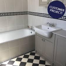 White Bathroom Tiles With Border Silver And Metallic Border Tiles
