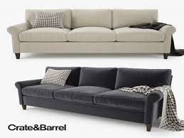 Crate And Barrel Sofa New 3d Model Crate Barrel Montclair Sofa