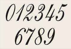NUMBERS -REUSABLE Stencil Eng1010 - 0-9 - in 6 sizes to choose from- Create  Wedding signs Table Numbers Address Signs