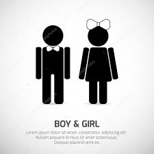 boy and girl bathroom signs. Boy And Girl Restroom Sign \u2014 Stock Vector Bathroom Signs S