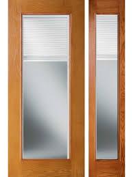 single patio door with built in blinds. Enclosed Blinds Woodgrain Fiberglass French Single Door, 1-Sidelite, Made ByODL Plastpro Patio Door With Built In E