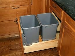 kitchen cabinet with trash bin s kitchen cabinet door mounted trash can