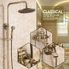 brass bathroom fixtures antique solid brass bathroom fixtures with shower head handheld shower bronze shower holder and arms rainfall brass bathroom