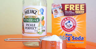 use baking soda and vinegar around