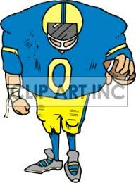 football fan clipart. cartoon linebacker royalty free image (rf) vector clip art number formats available are gif, jpg, wmf. football fan clipart