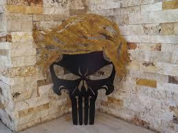 trump punisher skull maga gift metal